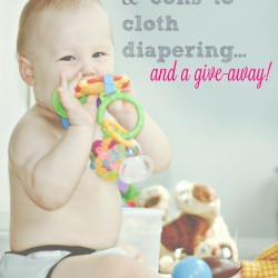 the pros & cons of cloth diapers…and a give-away!